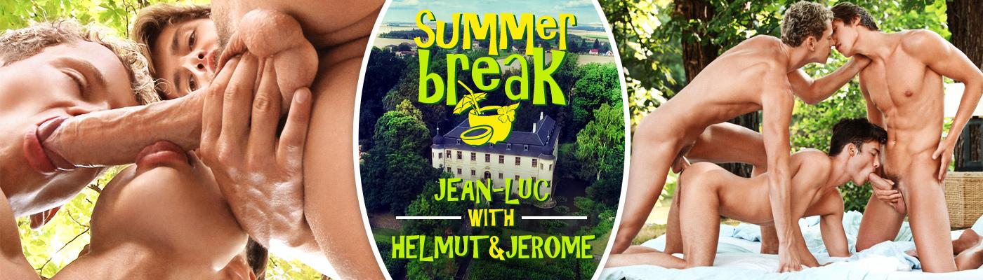 SUMMER BREAK… Jean-Luc Bisset with Helmut Huxley & Jerome Exupery
